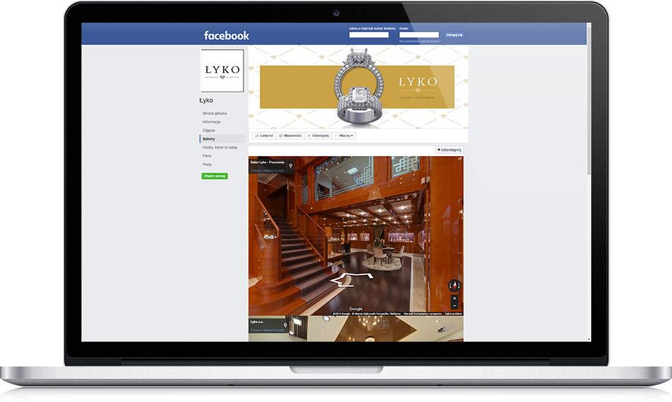 Spacer Wirtualny na Facebooku