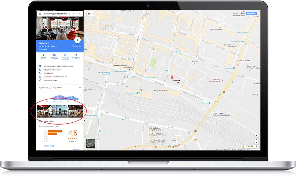 Spacer Wirtualny w mapach Google